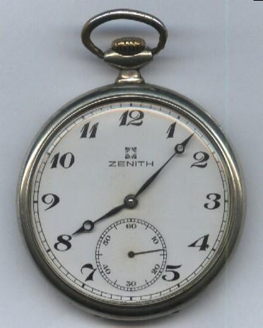 d5ad6cbe519 Relógio de Bolso Suiço antigo em Aço da Marca ZENITH